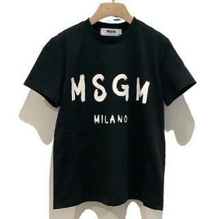 エムエスジイエム(MSGM)のMSGM ブラックTシャツ(Tシャツ(半袖/袖なし))