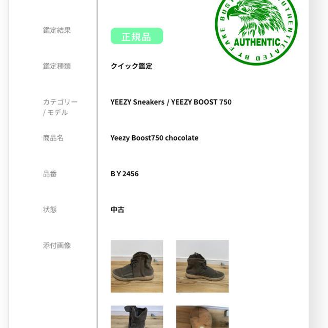adidas(アディダス)のYeezy Boost750  brown 29.5cm メンズの靴/シューズ(スニーカー)の商品写真