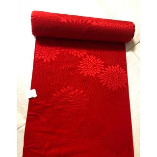 ふりふ - 未使用 長襦袢反物 アンティーク長襦袢 長襦袢地 赤 朱 紅絹