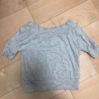 ザヴァージニア(The Virgnia)のThe Virgnia オフショルダー トップス Tシャツ 美品 グレー(カットソー(半袖/袖なし))
