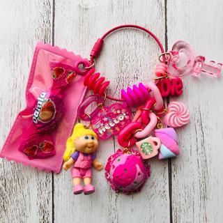 ピンクキャベツちゃん♡ ジャラジャラ キーホルダー(キーホルダー)