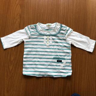 サンカンシオン(3can4on)の80cm重ね着風Tシャツ(Tシャツ)