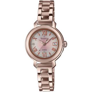カシオ(CASIO)のカシオ SHEEN 電波ソーラー 腕時計 ピーチゴールド(腕時計)