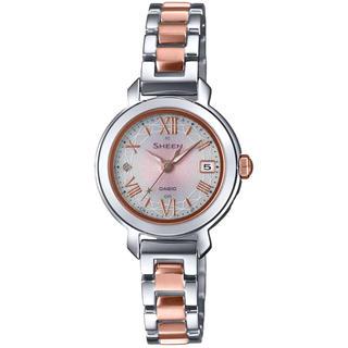 カシオ(CASIO)のカシオ SHEEN 電波ソーラー 腕時計 バイカラー(腕時計)