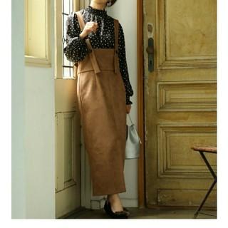 ViS - 定価8,690円 ハイウエストスエードジャンパースカート ビス 新品タグ付き