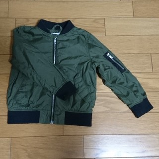 エイチアンドエム(H&M)のH&M  3-4Y カーキ 薄手 アウター ジャンパー 上着 MA-1  (ジャケット/上着)