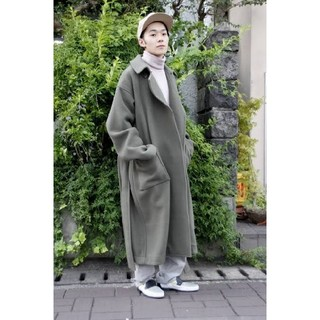 コモリ(COMOLI)のATHA 19AW Double Melton Maxi Coat ロングコート(チェスターコート)