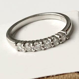 ポンテヴェキオ(PonteVecchio)のPt900 ダイヤモンド ライン リング 7号 ☆上質なダイヤモンド☆(リング(指輪))
