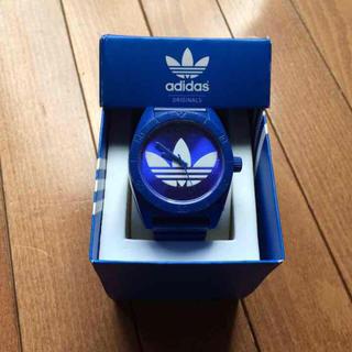 アディダス(adidas)の【美品】!!adidasブルー時計(その他)