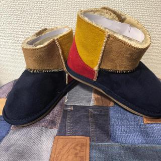 ミキハウス(mikihouse)の【未使用】ミキハウス ムートンブーツ 16cm(ブーツ)
