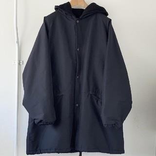 コモリ(COMOLI)の20AW 新品 COMOLI コットンシルク フーデッドコート サイズ3(モッズコート)
