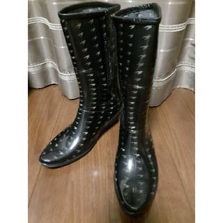 ミッシェルクラン(MICHEL KLEIN)のミッシェルクラン レインブーツ ウエッジソール Lサイズ(レインブーツ/長靴)