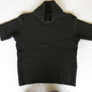 オゾック(OZOC)の半袖カーキセーター(ニット/セーター)