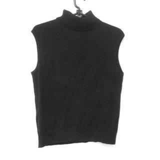 アニエスベー(agnes b.)のアニエスベー ノースリーブセーター 2 M 黒(ニット/セーター)