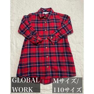 グローバルワーク(GLOBAL WORK)の【美品】グローバルワーク チェックシャツ(ワンピース)