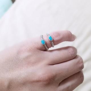 ♪ターコイズ☆ピンキーリング♪(リング(指輪))