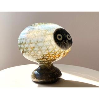 イッタラ(iittala)のPearl Owl オイバ・トイッカ  バード ヌータヤルヴィ イッタラ(置物)