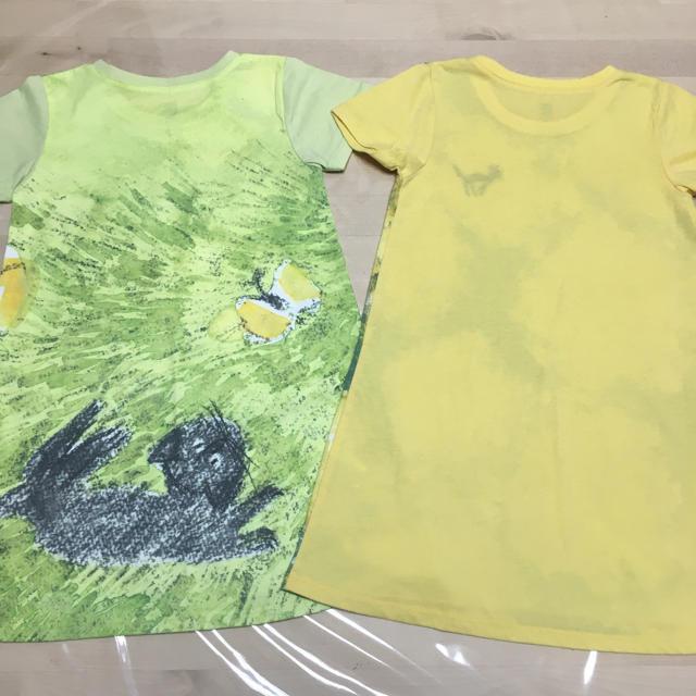 Design Tshirts Store graniph(グラニフ)のgraniph きくちちきコラボワンピース 110 美品 キッズ/ベビー/マタニティのキッズ服女の子用(90cm~)(ワンピース)の商品写真