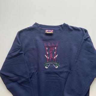 チャンピオン(Champion)のWOLF超激レア リバースウィーブ スウェット 刺繍ロゴ XL 紺(スウェット)