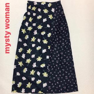 ミスティウーマン(mysty woman)のmysty woman花柄スカート  Fサイズ(ロングスカート)