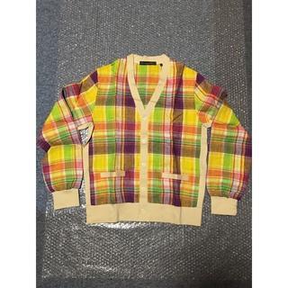 ビームス(BEAMS)の新品未使用 BAEMS ビームス チェックシャツ Lサイズ イエロー(カーディガン)