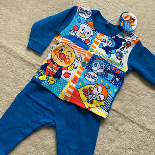 バンダイ(BANDAI)のアンパンマン パジャマ 腹巻き付き 80(パジャマ)