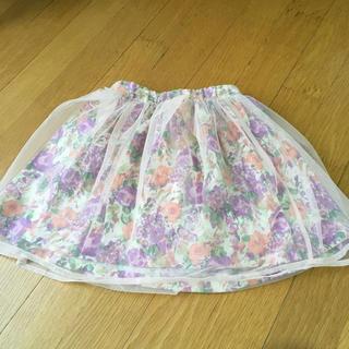 ジルスチュアート(JILLSTUART)のジルスチュアート チュール花柄スカート 120 (スカート)