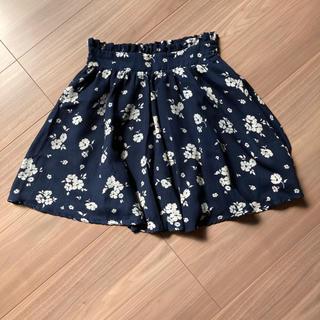 マジェスティックレゴン(MAJESTIC LEGON)の花柄スカート 着丈44cm(スカート)