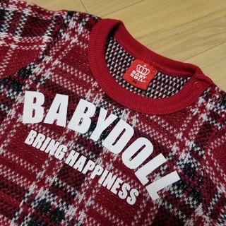ベビードール(BABYDOLL)の『価格見直しました!』【古着】【BABYDOLL】チェック柄 セーター 80(ニット/セーター)