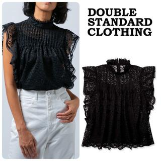 DOUBLE STANDARD CLOTHING - With掲載★20SS完売 ダブルスタンダード シャツ 黒36 定価27500
