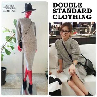 DOUBLE STANDARD CLOTHING - ダブルスタンダードクロージング ニット セットアップ イタリア製素材32400円