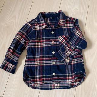 ムジルシリョウヒン(MUJI (無印良品))の無印良品 チェックシャツ  80(シャツ/カットソー)