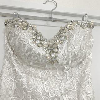Andy - キャバ キャバ嬢 キャバクラ ドレス ホワイト キラキラスワロフスキー サイズS