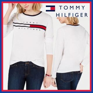 トミーヒルフィガー(TOMMY HILFIGER)のTommy トミー ロゴ ロング Tee US/Sサイズ ユニセックス(Tシャツ(長袖/七分))