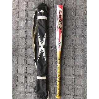 MIZUNO - ★中古品エックス01★85cm720gソフトボール用バット3号(革、ゴム用)