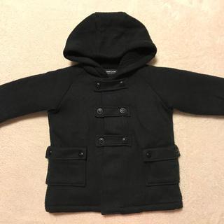 コムサイズム(COMME CA ISM)のコムサイズム フード付きブラックフワモココート 90cm(ジャケット/上着)