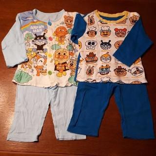 バンダイ(BANDAI)の長袖アンパンマン パジャマ 2セット 左水色95cm 右青色90cm(パジャマ)
