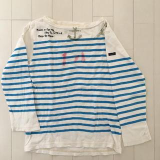 DENIM DUNGAREE - デニム&ダンガリー ボーダーロンT 140 長袖Tシャツ
