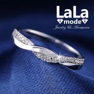 【 16号 】リング 指輪 レディース AAA ジルコニア ホワイトゴールド仕上(リング(指輪))