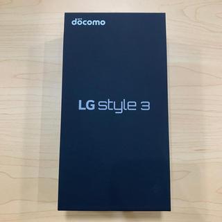 NTTdocomo - 【新品】LG style3 L-41A オーロラホワイト SIMロック解除済み