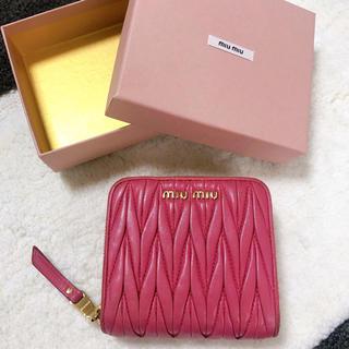 miumiu - miumiu ミュウミュウ 折財布 マテラッセ