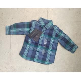 トミーヒルフィガー(TOMMY HILFIGER)の新品タグ付!トミーヒルフィガー  かっこいい チェックシャツ 70(シャツ/カットソー)