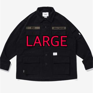 W)taps - wtaps JUNGLE  LS  NYCO. RIPSTOP BLACK L