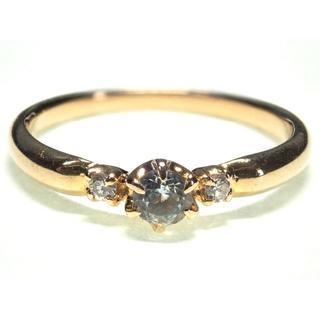 4℃ - 039.4℃ K18 指輪 色石 D入 7.5号