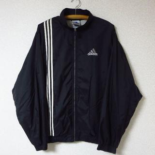 adidas - ◎adidas ナイロンジャケット 黒 アシンメトリー 90s