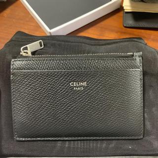 CELINE ジップ付きカードホルダー / グレインドカーフスキン