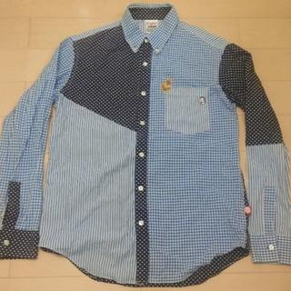 パンクドランカーズ(PUNK DRUNKERS)のパンクドランカーズ ドット シャツ おかめチェック ひょっとこ 長袖 切替(シャツ)
