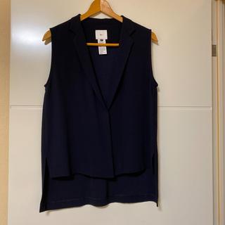 DOUBLE STANDARD CLOTHING - ダブルスタンダードクロージング ソブ 濃紺 ジレ ベスト