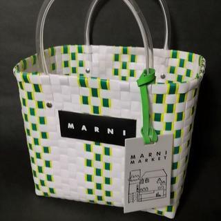 残り2個【即納未使用】MARNI LOGO ピクニックバッグ/ホワイトグリーン