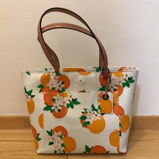 kate spade new york - 新品未使用!ケイトスペード オレンジ柄のバッグ